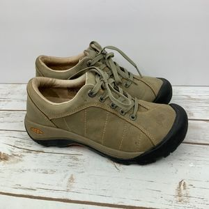 KEEN Presido Brown Leather Lace Up Shoes